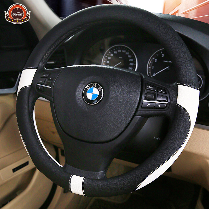 2018 Sport volante de cuero coche de estilo protección del medio ambiente no huele mal diámetro 38 cm 4 Color freeshipping