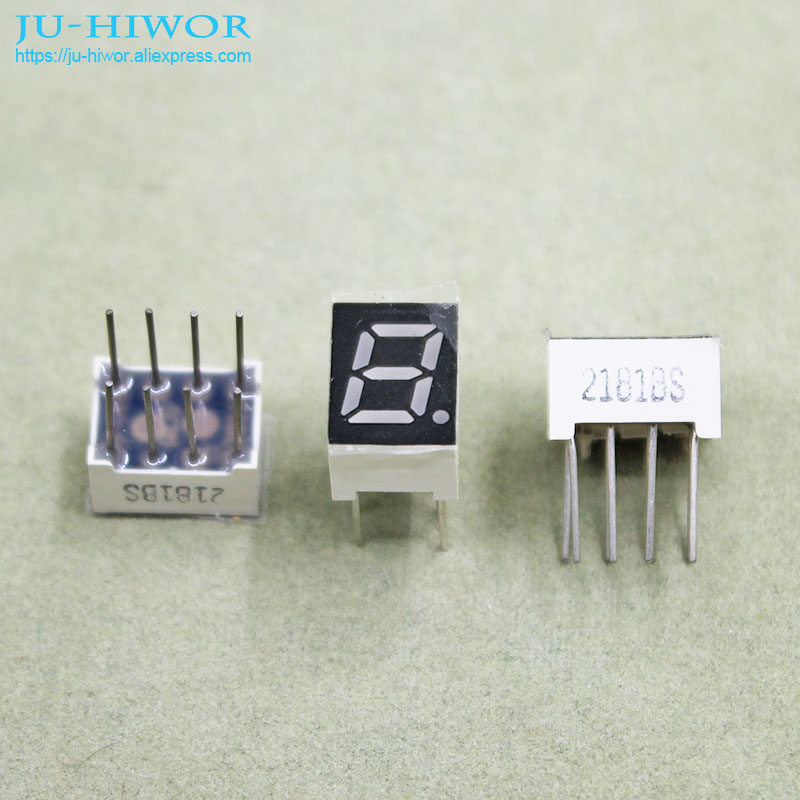 (10pcs/lot) 8 Pins 2811BR 0.28 Inch 1 Bit Digit 7 Segment Red LED Display Share Common Anode Digital Display