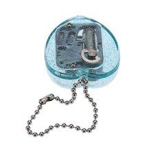 NOCM-Mini Acrylic Heart-Shaped Musical Box Music Bo