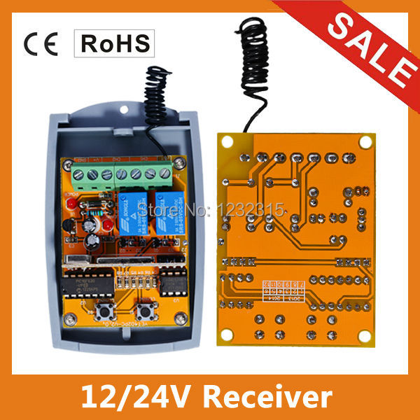9V 24V AC DC all codes working universal 2 channel remote control receiver 433 92 433mhz