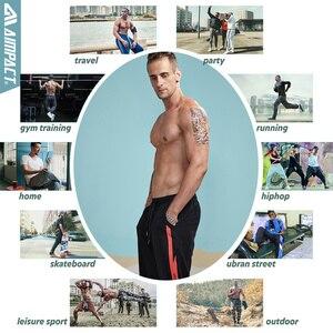 Image 5 - Aimpact 2018 nowy na co dzień Jogger spodnie męskie aktywny elastyczny miejskich Biker spodnie męskie bawełniane sznurek spodnie dresowe męskie śledzić spodnie AM5003