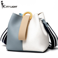 Women Handbag Fashion Genuine Leather Women Messenger Bag Women Genuine Real Cow Leather Handbag Daily Casual Bucket Bag