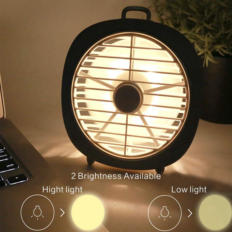 Image 3 - Personal Desk Fan Degree Rotation 3 Speeds Mini Size Desktop Table Protable Fan With Usb Rechargeable Powerful Wind Quiet Oper-in Fans from Consumer Electronics