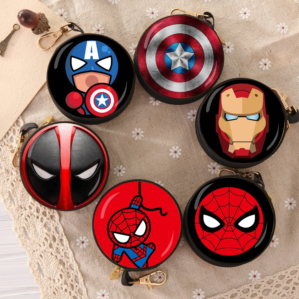 Wallet Model Coin-Bag Action-Figure Spiderman Thor Deadpool Batman Avengers Iron-Man