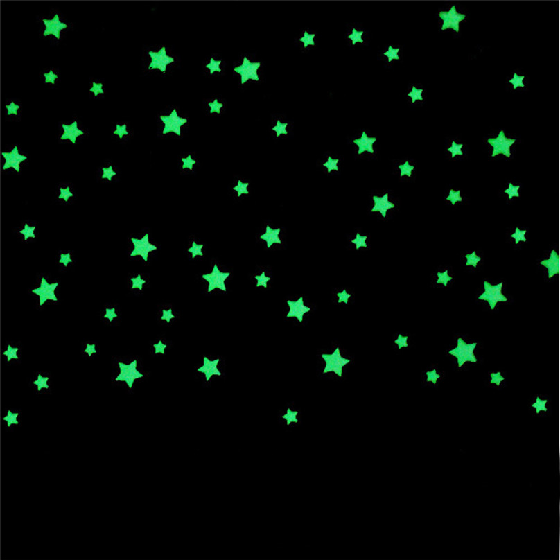 Luminous Wall Sticker 100pcs Fluorescent Glow In The Dark