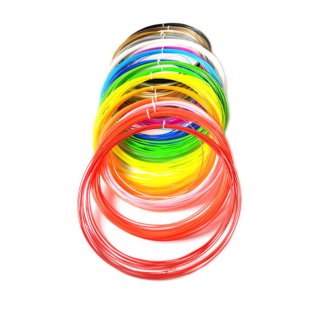 100 Meters 10 colors 1.75MM PLA Filament For 3D Printing Pen Threads Plastic Printer Consumables Kids Children Gift