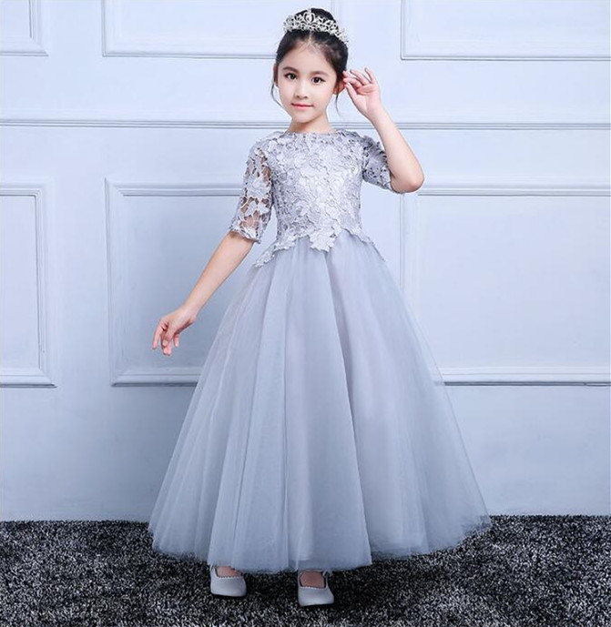 Children's Princess Dresses Girls Flower Clothes New Brand Toddler Girl Dress Kids Clothing Half Sleeve Christmas Dress autumn girl dress print long sleeve new brand princess dress clothes rose flower kids pattern costumes vestido clothing for kids page 1