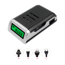 MP Promotion Charger Universal 4 Slots LCD Display Smart Intelligent Battery Charger for AA / AAA NiCD NiMH Rechargeable Battery зарядное устройство aa aaa varta lcd universal charger