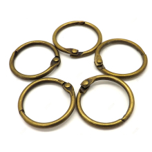 10 шт. 15-75 мм античный Brozen переплет для книг, шарнирные кольца, металлические кольца для книг, скрапбукинга, офисные кольца для переплета