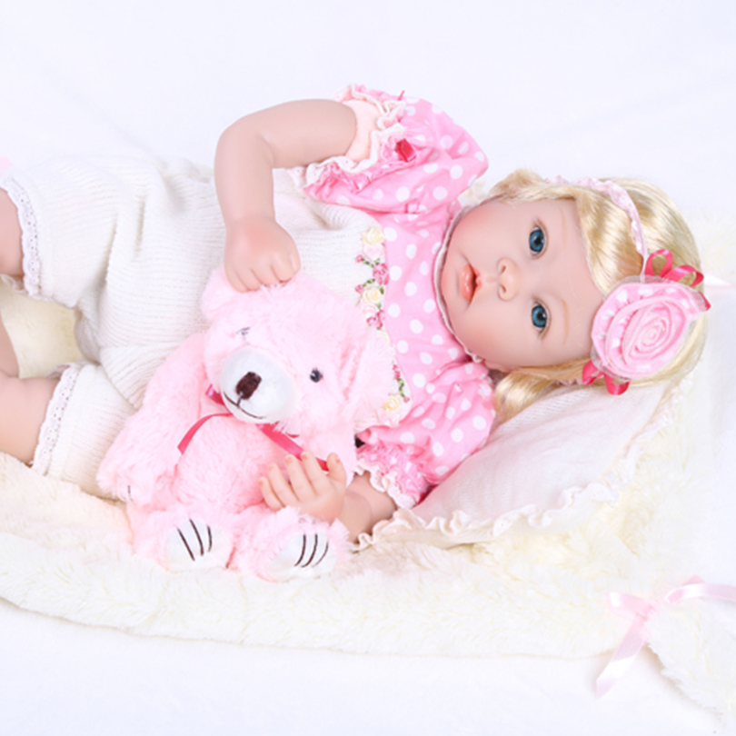 2016 New Reborn Baby Dolls Lovely Girl Cotton Body Silicone Reborn Dolls Lifelike Doll Reborn Babies Brinquedos 2016 cotton body reborn babies lifelike princess girls doll toy rooted mohair gift for baby reborn poupon brinquedos new year