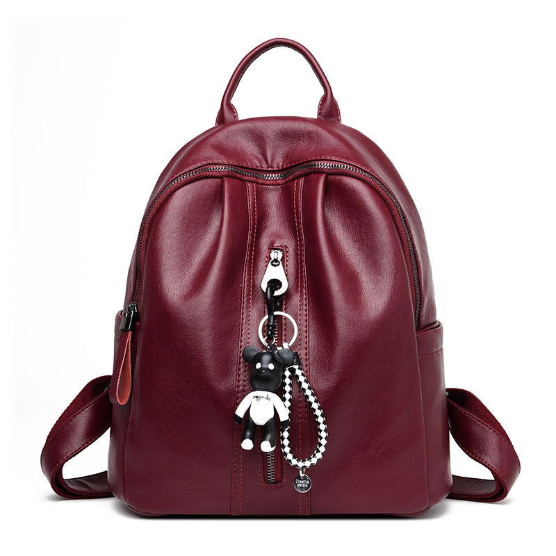 Fashion Brand Genuine Leather Girl Teens Backpack Sheepskin School Backpacks For Girl Women Schoolbag Satchel Rucksack