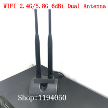 2-портный Dual с высоким коэффициентом усиления Wi-Fi 2,4G/5,8G 6dBi двухдиапазонный всенаправленная антенна 6DB