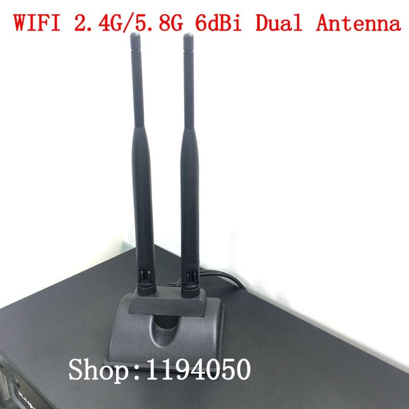 Двойной 2 высоким коэффициентом усиления Wi-Fi 2.4 г/5.8 Г 6dbi dual band всенаправленный Телевизионные антенны 6db