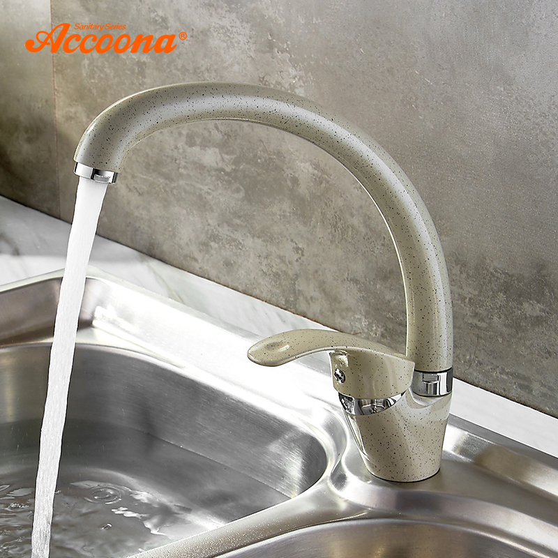 Accoona 3 Color Kitchen Faucet Mixer Cold And Hot Single Handle Swivel Spout Kitchen Water Sink Mixer Tap Kitchen Faucets A4053