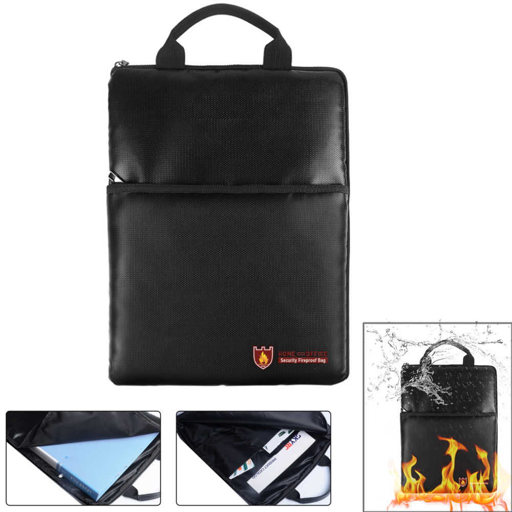 Огнестойкие Сумка для документов большой ёмкость сумки Организатор держатель безопасного хранения водонепроница