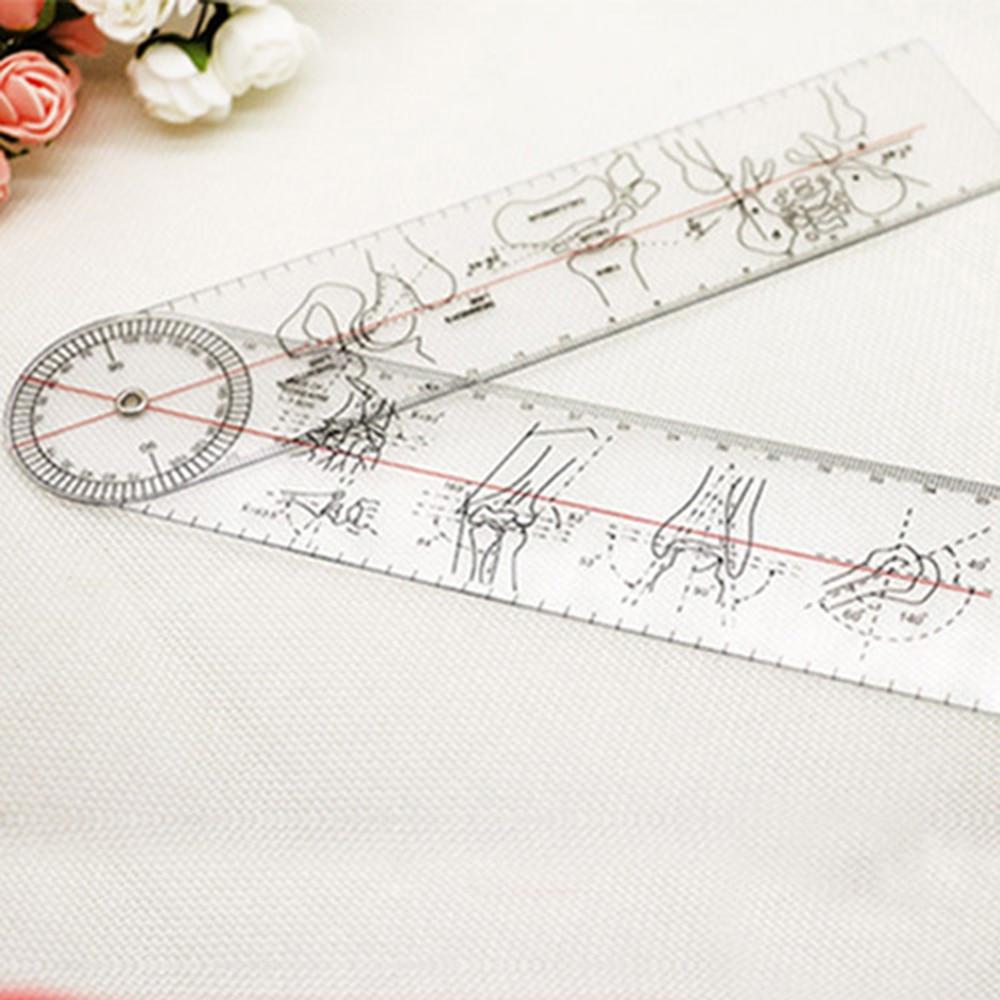 Goniometer Angle Medical Ruler Rule Joint Bend Measure Plastic PVC 8