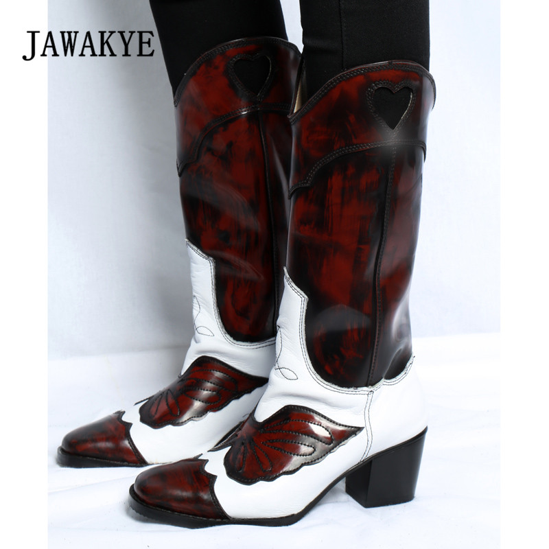 2019 Retro Knee High Boots Woman Pointed Toe Embroidery High Heel Boots Women Fashion Knight Boots2019 Retro Knee High Boots Woman Pointed Toe Embroidery High Heel Boots Women Fashion Knight Boots