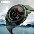New SKMEI Brand Men Military Sports Watches Waterproof LED Digital Watch Big Dial Silicone Strap Alarm Wristwatch