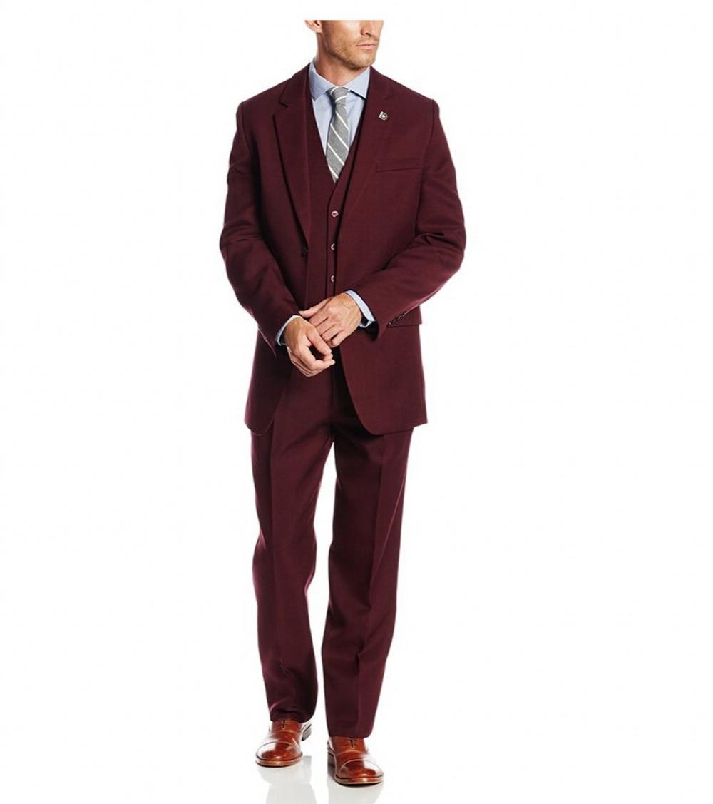 Guapo 2018 Customized Groom Tuxedos Groomsmen El mejor traje de - Ropa de hombre - foto 3