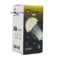 10pcs Mi-Light 2.4G 9W E27 Wireless CW/WW Dual White (Cool white + Warm White) LED Bulb Light Lamp Color temp Adjust Wholesale