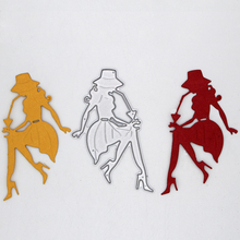 Elegant women Metal Cutting Dies DIY Decorative Scrapbooking Craft Card Album Stencils 50*70 mm
