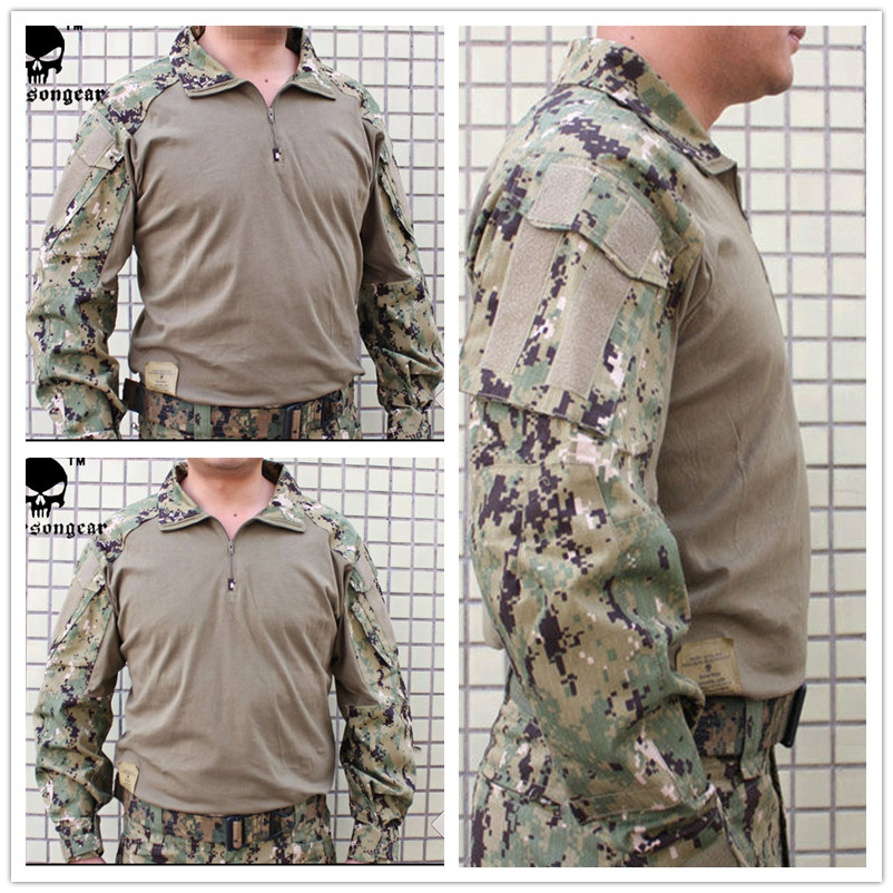 Emerson Tactical G3 Combat shirt Emerson BDU Military Army airsoft wargame shirt AOR2 EM8596
