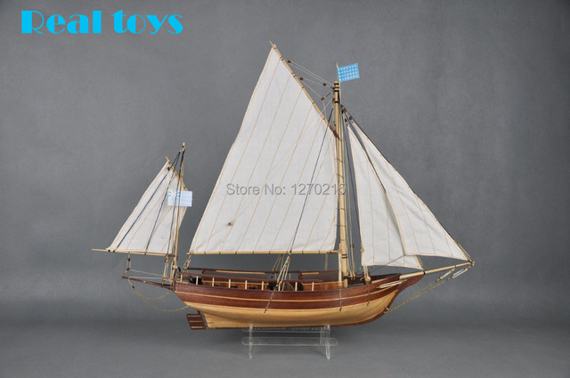 Scale 1/30 Classics wooden sail boat Ship model kits the SPARY Boston modern sailing boat DIY model