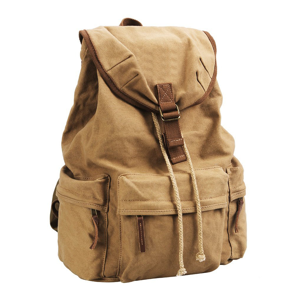 Canvas Vintage DSLR SLR Camera Shoulder Case Backpack Rucksack Bag With Waterproof Rain Cover For Sony Canon Nikon Olympus Hav