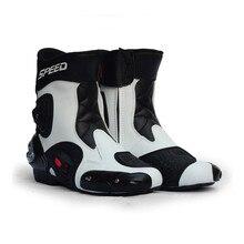 Мужские байкерские ботинки средней длины из микрофибры; байкерские гоночные ботинки; байкерские ботинки с перекрестными ремешками; байкерские ботинки