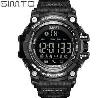 GIMTO Marka Toptan Akıllı Saatler 2017 Moda Casual Erkek Spor Saatler Çok Fonksiyonlu Android Iphone Dijital Kol Saati DZ09