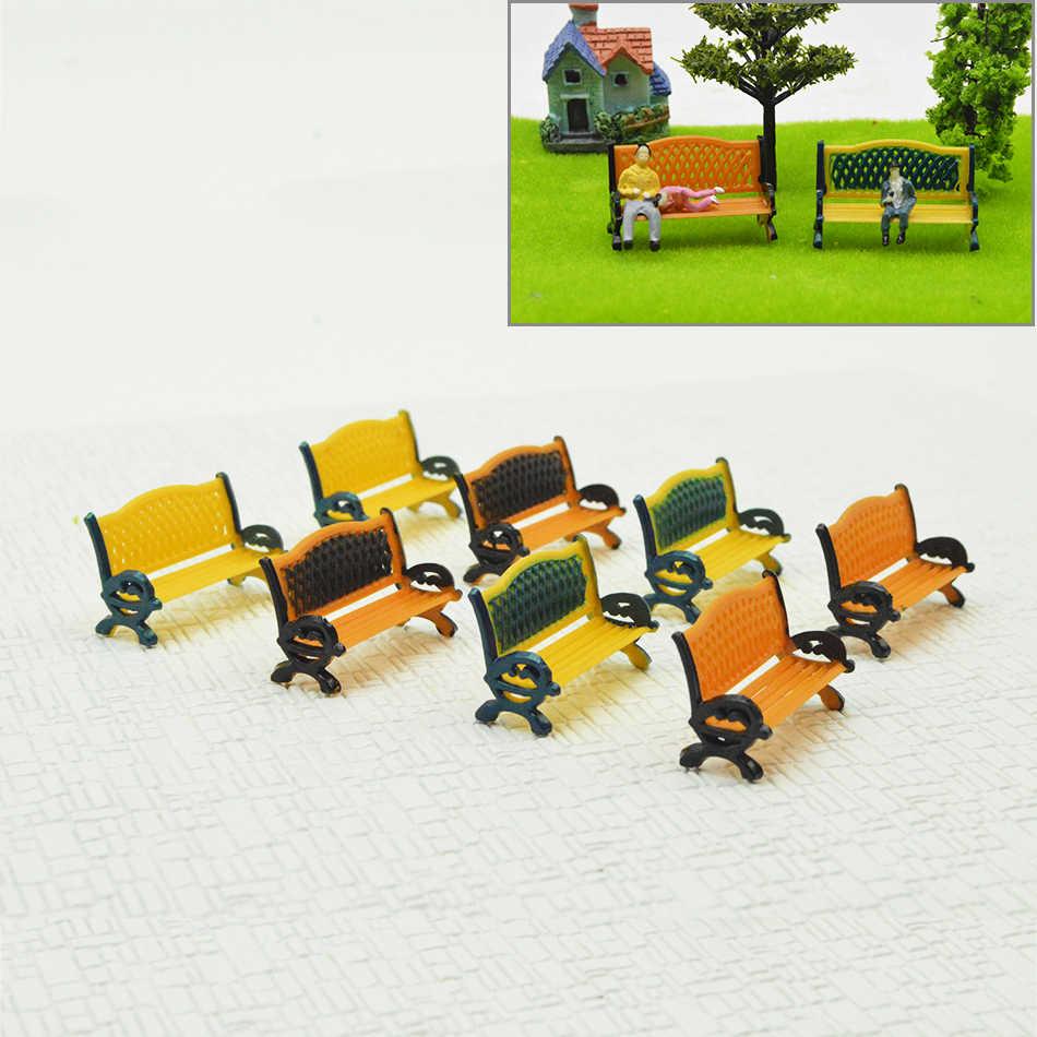 HO scale 1: 87 архитектурных парковочных уличных сидений скамейка стул для железной дороги поезд макет