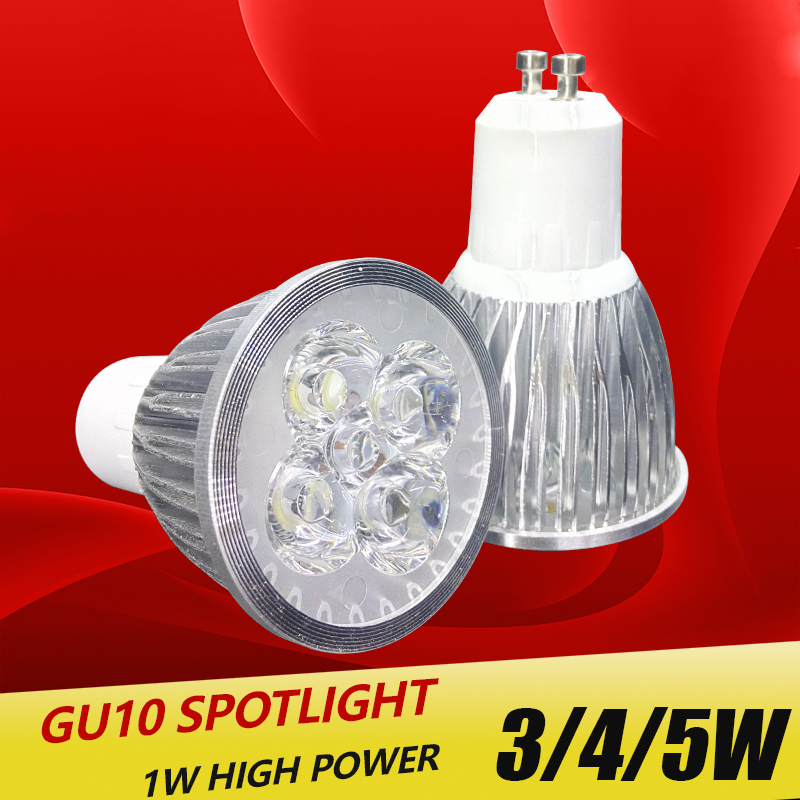 Super bright spotlight LED Lamp Spotlight 3W 4W 5W Bombillas High quality GU10 Spot light Lampada Bulb 220V