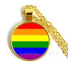 مثلي الجنس ساعة جيب فخر قلادة نفس الجنس Lgbt مجوهرات المثليين المثليات الفخر مع قوس قزح الحب يفوز هدية نفس الجنس الزواج