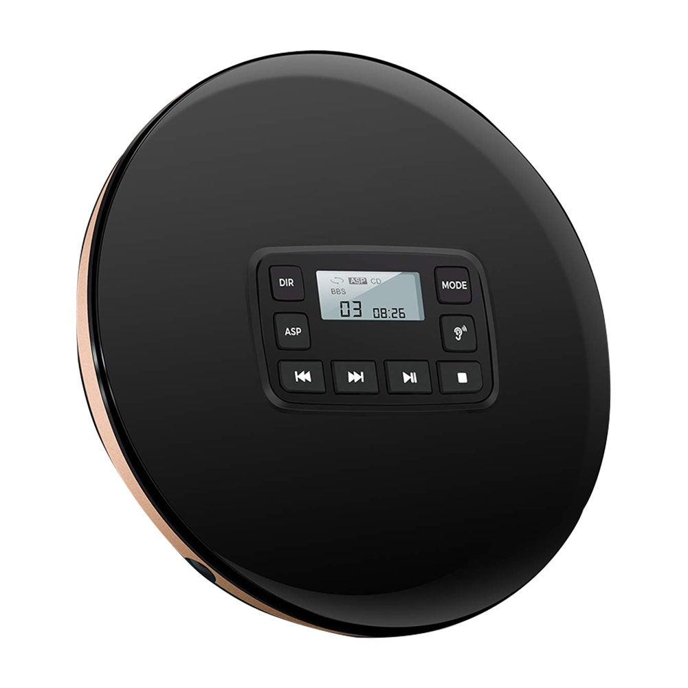 Round CD Player Electric Protection HIFI Stereo Headphone Jk With Electronic Skip Compt Disc Music Portable ShockproofRound CD Player Electric Protection HIFI Stereo Headphone Jk With Electronic Skip Compt Disc Music Portable Shockproof