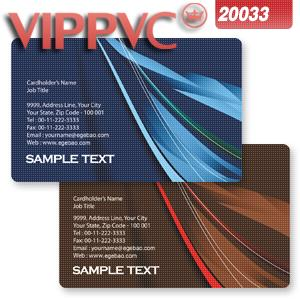 Office & School Supplies High Quality Pvc Business Card With Double Faced Glitter Silver Background
