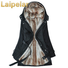 Laipelar 2018 New Parkas Female Women Winter Coat Thickening Cotton Jacket Womens Outwear for
