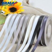 YAMA Single Face Satin Ribbon 50 57 63 75 89 100mm 100yards/Rol Black White Silver Crafts Wedding Decoration DIY Gifts Hair Bow