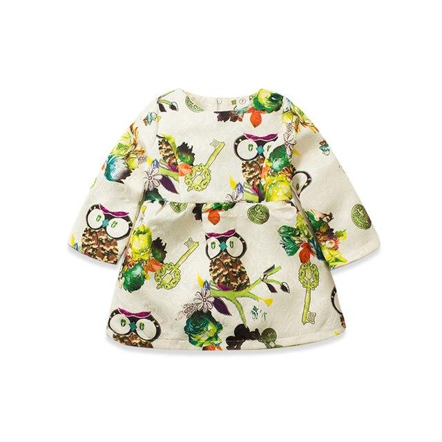 2016 Spring New Pattern Girl Owl Korean Skirt Girl Baby Princess  Children  Jacket