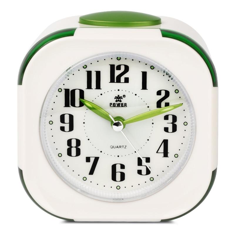 Reloj despertador con luz nocturna Movimiento de repetición de - Decoración del hogar