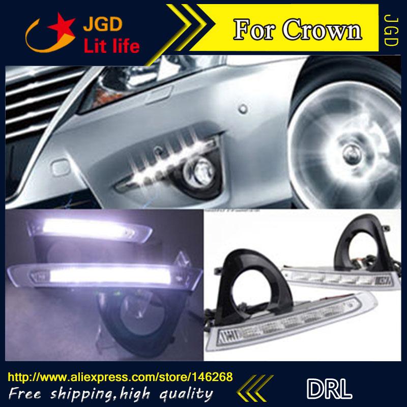 Бесплатная доставка ! 12В 6000K светодиодные DRL фары дневного света для Тойота Корона 2012-2014 противотуманная фара стайлинга автомобилей