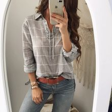 chic women blouse new female womens top shirt ladies plaid fall winter festivals classics comfort elegance clothing