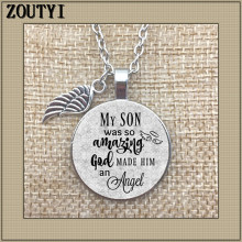 Commemorative charm, the loss of my son, son is so amazing, God made him an angel, to commemorate dear child