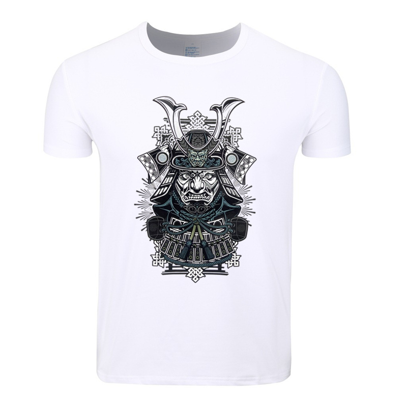 Asian Size Men Print Samurai Warrior Darth Vader Fashion T-shirt O-Neck Short Sleeves Summer Casual Homme T-shirt HCP4077