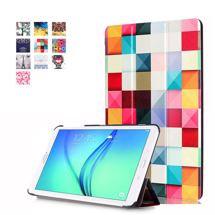 50Pcs PU Leather Cover Case for Samsung Galaxy Tab E 8.0 T377 T337A T377P T375 8 Tablet + Screen Protector ultra thin smart flip pu leather cover for lenovo tab 2 a10 30 70f x30f x30m 10 1 tablet case screen protector stylus pen