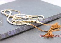 Tassel Long pendant Stone Necklace women handmade woven with cotton cord ,synthe turquoies and slide closure