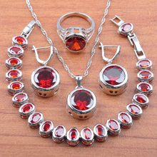 Best Christmas Gift 925 Silver Jewelry Sets For Women Bridal Costume Dangle Earring/Necklace/Bracelet And Ring Sets JS0145(China)
