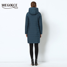 Women jacket with a curve zipper women coat high-quality thin cotton padded jacket