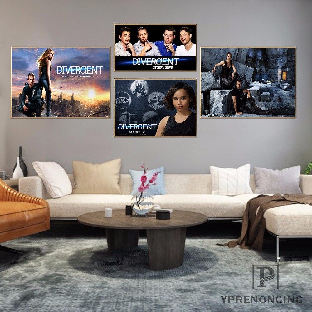 Custom Divergent Movie Home Decor Canvas Printing Silk