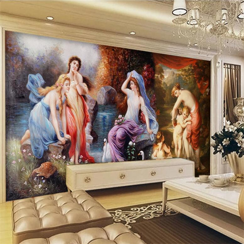 Beibehang Papier Peint Custom Wallpaper 3d Murals European And American Classical Palace Murals Living Room Bedroom 3d Wallpaper