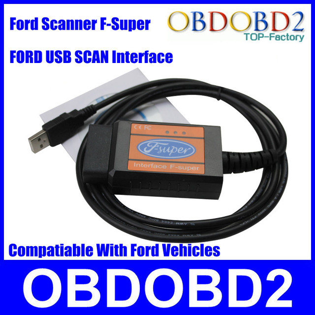 Professional For Ford F-Super For Ford Gasoline+Diesel Car(For Ford Focus/Fusion/Mondeo/Fiesta/KA/Transit) USB Interface